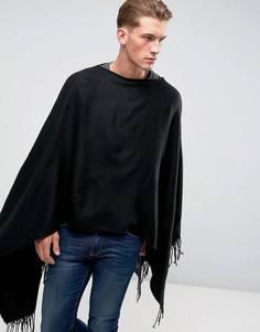 Черное пончо ASOS - Черный