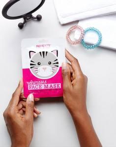 Листовая маска для лица в виде кота эксклюзивно на ASOS - Мульти Beauty Extras