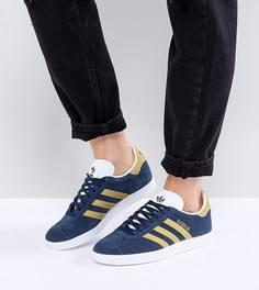 Синие кроссовки adidas Originals Gazelle - Темно-синий