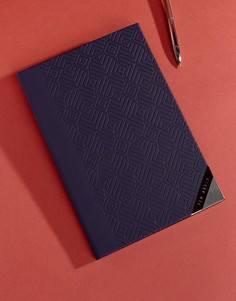 Синяя записная книжка A5 формата Ted Baker - Мульти