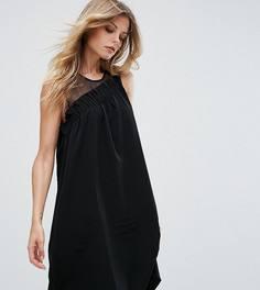 Платье с присборенной драпировкой Vero Moda Tall - Черный