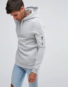 Худи серого цвета с карманом MA1 River Island - Серый