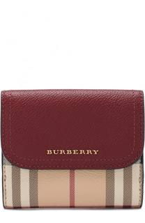 Портмоне из кожи в клетку House Check Burberry
