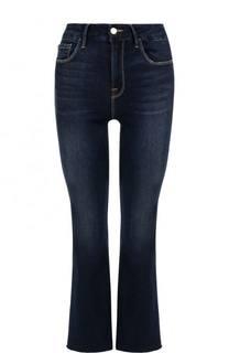 Укороченные расклешенные джинсы с потертостями Frame Denim