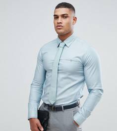 Строгая рубашка узкого кроя Ted Baker TALL - Зеленый