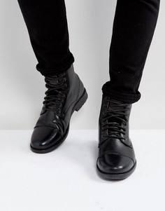 Черные кожаные ботинки Levis Emmerson - Черный