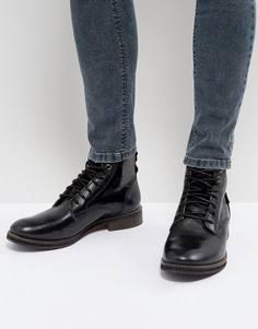 Черные кожаные ботинки Levis Baldwin - Черный