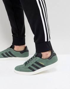 Зеленые кроссовки adidas Originals Gazelle BZ0033 - Зеленый