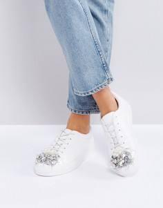 Декорированные кроссовки ASOS DREAM ON - Белый