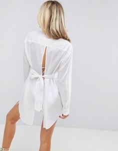 Пляжная рубашка с завязкой на спине ASOS - Белый