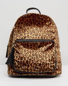 Рюкзак с леопардовым принтом Pieces - Мульти