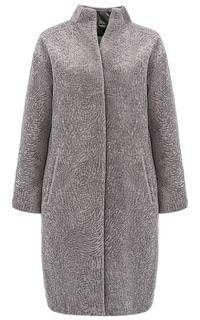 Утепленное пальто из вязаной овчины Virtuale Fur Collection