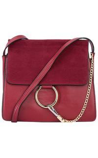 Бордовая сумка из экокожи La Reine Blanche