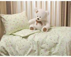 Комплект постельного белья Li-Ly фланель 3 пр. зеленый Kupu Kupu