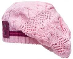 Берет детский для девочки Barkito, розовый с сиреневым