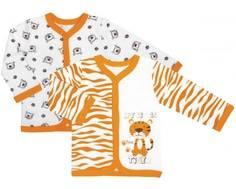 Кофточка детская «Тигрята» Barkito 2 шт., экрю с рисунком
