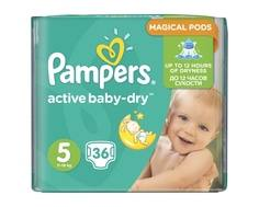 Подгузники Pampers Active Baby-Dry 5 (11-18кг) 36 шт.