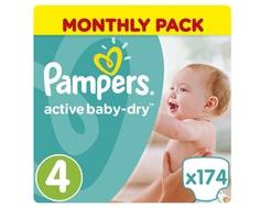 Подгузники Pampers Active Baby-Dry 4 (8-14 кг) 174 шт.