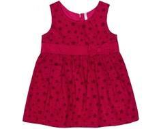 Платье детское Barkito «Пандочка 1», фуксия с рисунком «звёзды»