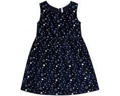 Платье детское Barkito «Волшебство 1», синее с рисунком «звезды»