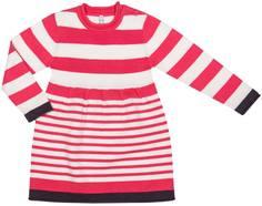 Платье детское Barkito «Весёлый монстр», коралловое с рисунком в полоску