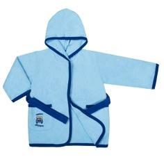 Халат детский для мальчика Barkito «Семейный уют», голубой