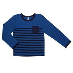 """Футболка с длинным рукавом для мальчика Barkito """"Корабль 1"""",синяя"""