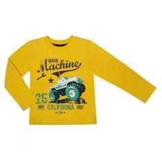 Футболка с длинным рукавом для мальчика Barkito «Механика 2», желтая