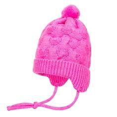 Шапка-ушанка для девочки Barkito ярко-розовый