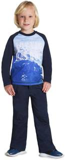 Футболка с длинным рукавом для мальчика Barkito «Айсберг 1», синяя
