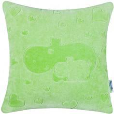 Декоративная подушка Якимок «Бегемотики» велюр зеленая