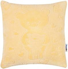 Декоративная подушка Якимок «Мишки» велюр бежевая