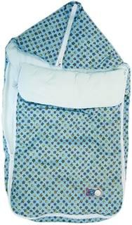 Конверт-трансформер Baby Nice с меховой подкладкой голубой в ассортименте