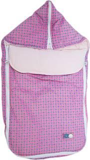 Конверт-трансформер Baby Nice с меховой подкладкой розовый