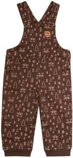 Комплект для мальчика футболка с длинным рукавом и полукомбинезон Barkito «Отважные при ключения 1», футболка бежевая, полукомбинезон коричневый с рисунком