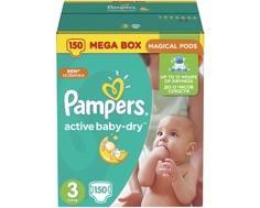 Подгузники Pampers Active Baby-Dry 3 (5-9 кг) 150 шт.