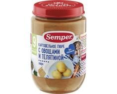 Пюре Semper Картофельное пюре с овощами и телятиной с 9 мес. 190 г