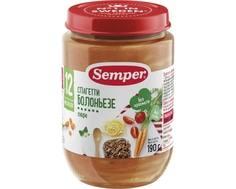 Пюре Semper Спагетти болоньезе с 12 мес. 190 г