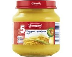 Пюре Semper Кукуруза с картофелем с 5 мес. 125 г