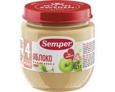 Пюре Semper Яблоко с 4 мес. 125 г