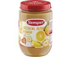 Пюре Semper Апельсин, яблоко, банан с 6 мес. 190 г