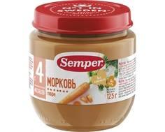 Пюре Semper Морковь с 4 мес. 125 г
