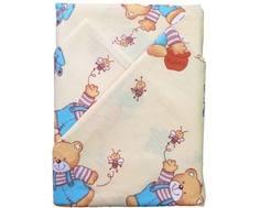 Комплект постельного белья Луняшки «Мишка с медом» 3 пр. бежевый