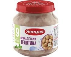 Пюре Semper Фрикадельки телятина с 9 мес. 125 г