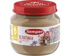 Пюре Semper Телятина с 6 мес. 90 г