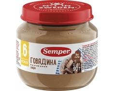 Пюре Semper Говядина с 6 мес. 90 г