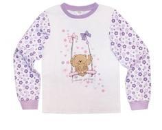 """Пижама для девочки с длинным рукавом """"Цветы"""" Barkito"""