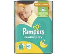 Подгузники Pampers New Baby 1 (2-5 кг) 43 шт.