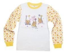 """Пижама """"Цветы"""" для девочки с длинным рукавом Barkito"""