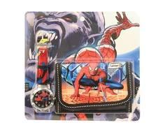 Набор для мальчика Disney «Человек-паук» с кошельком и часами